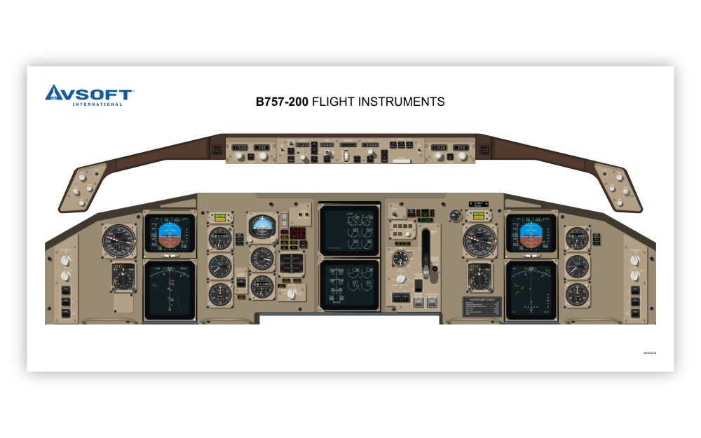 B757-200 Cockpit Poster