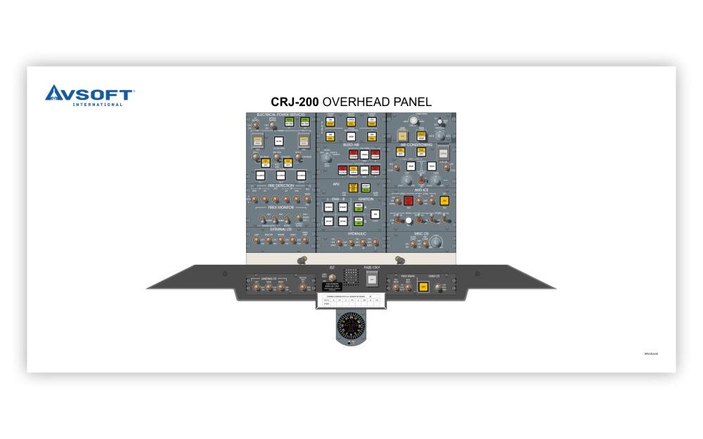 crj 200 overhead panel